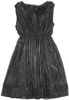 Ermanno Scervino Plisse Stretch Tulle Dress With Lurex