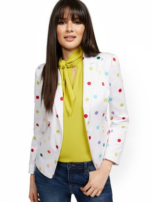 New York & Co. Dot-Print One-Button Jacket - 7th Avenue