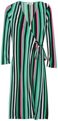 Diane von Furstenberg Tilly Striped Long Sleeve Wrap Dress