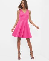 Ted Baker Embroidered lace skater dress