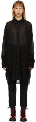 Ann Demeulemeester Black Tiriel Sheer Shirt
