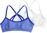 Hanes Girls 7-16 2-pack Seamless Racerback Wire Free Bralettes