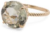 14k Gold 12mm Prasiolite Ring