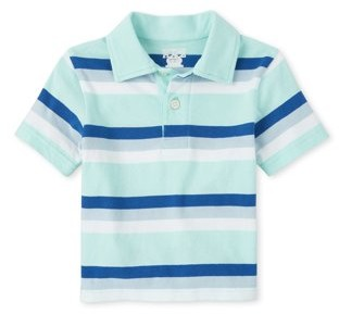 Children's Place The Baby & Toddler Boy Short Sleeve Striped Polo Shirt