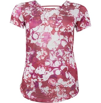 Under Armour Womens Armour Sport Printed Top Pink/White