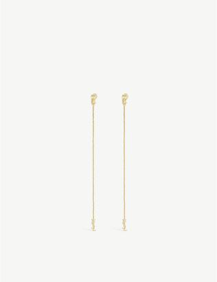 Saint Laurent Opyum monogram brass earrings