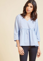 ModCloth Crisp and Chic Top in S