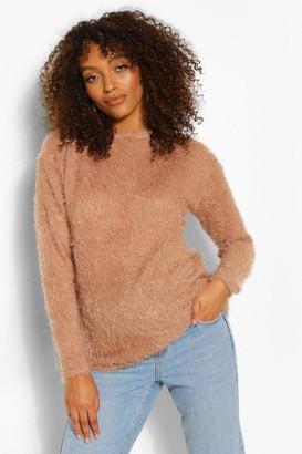 boohoo Maternity Fluffy Knit sweater
