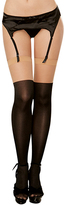 Dreamgirl Nude & Black Faux Boot Thigh-High Stockings