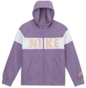 Nike Sportswear Big Girl's Full-Zip Fleece Hoodie- Extended Sizes