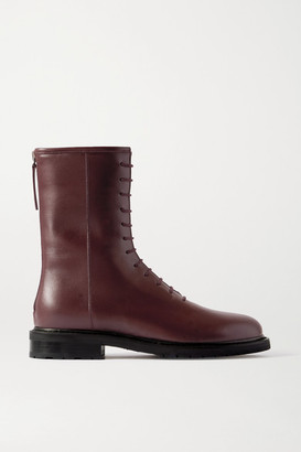 LEGRES 08 Leather Ankle Boots - Burgundy