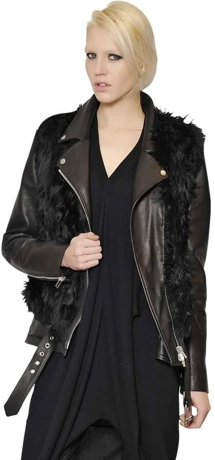 Maison Margiela Alpaca Vest With Leather & Nylon Jacket