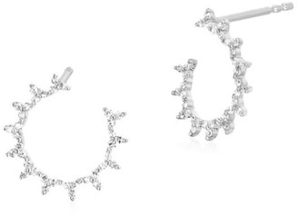 Ef Collection Trio Illusion Diamond Earrings