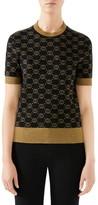Gucci Metallic GG Wool Sweater
