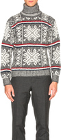 Thom Browne Norwegian Fair Isle Turtleneck