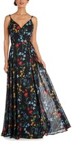 Thumbnail for your product : Nightway Floral-Print Gown