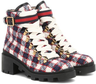 Gucci Trip tweed ankle boots