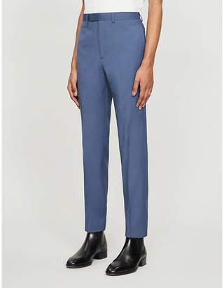 Sandro Mid-rise tapered stretch-wool trousers
