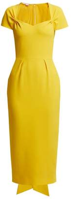 Stella McCartney Amal Tie Back Crepe Dress - Womens - Yellow