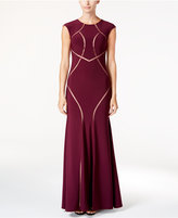 Xscape Evenings Illusion Scroll Gown