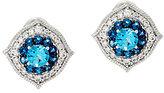 Judith Ripka Sterling 1.70 cttw Blue Topaz Button Earrings
