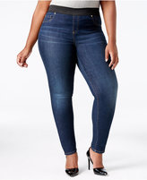 INC International Concepts Plus Size Pull-On Sunday Wash Jeggings, Only at Macy's
