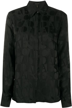 Escada Long Sleeve Logo Print Shirt