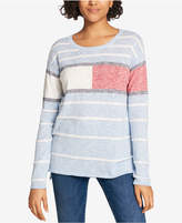 Tommy Hilfiger Cotton Textured-Stripe Logo Sweater, Created for Macy's