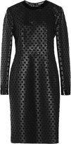 Tom Ford Laser-cut leather and silk-organza dress