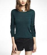 Express Velvet Racing Stripe Tunic Sweater