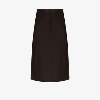 Eftychia A-line midi skirt