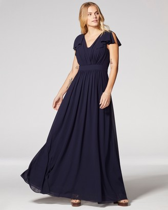 Vince Camuto Flutter-sleeve Gown