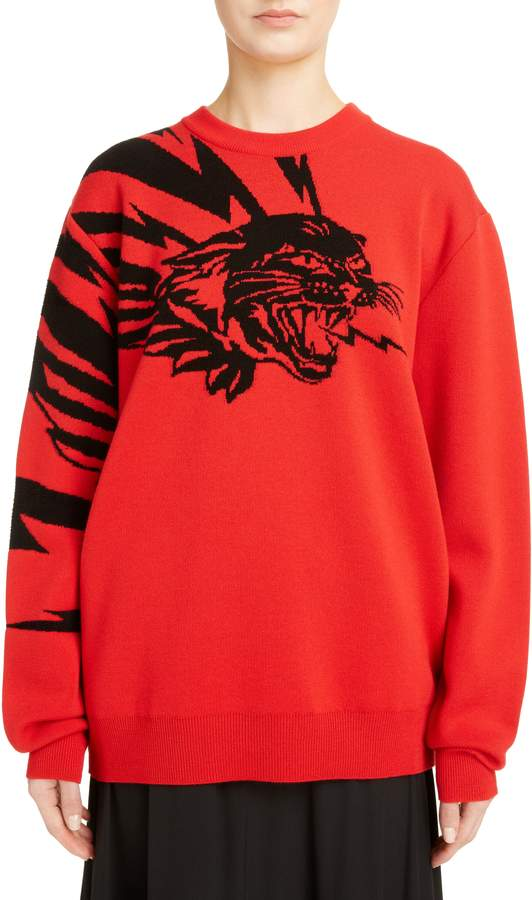 Givenchy Tiger Wool Jacquard Sweater