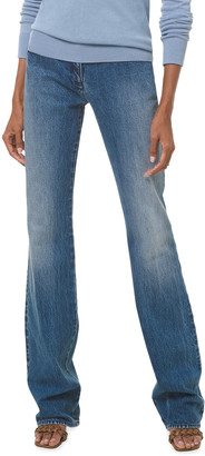 Michael Kors Collection Stovepipe Monogram Jeans