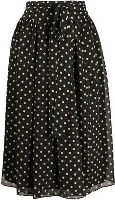 Steffen Schraut polka-dot midi skirt