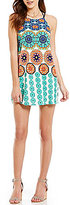Moa Moa Printed Strappy Back Shift Dress
