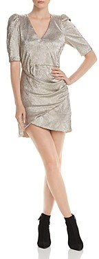 Alice + Olivia Judy Metallic Ruched Dress