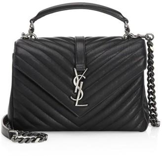 Saint Laurent Medium College Matelasse Leather Bag