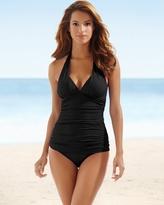 Soma Intimates Goddess Halter Swim Tankini Top Black