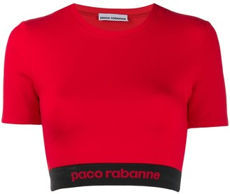 Paco Rabanne cropped logo top