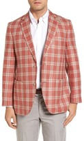 Kroon Men's Bono 2 Classic Fit Plaid Silk Blend Sport Coat