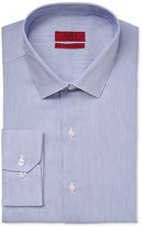 Alfani Fitted Performance Blue Texture Fineline Stripe Dress Shirt, Only at Macy's