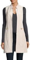Calvin Klein Faux Suede Open Front Vest