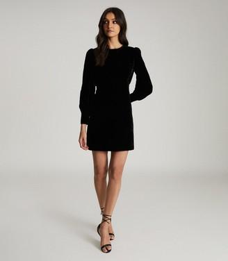 Reiss BLANCA VELVET MINI DRESS Black