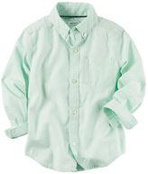 Carter's Pinstripe Button-Front Shirt