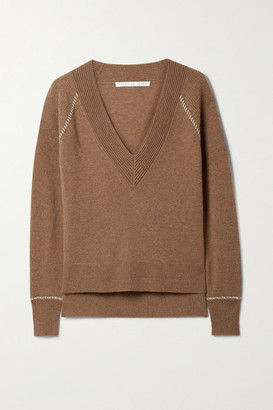 Veronica Beard Preta Cashmere Sweater - Camel