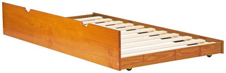 Palace Imports 100% Solid Wood Twin Trundle On Wheels, Honey Pine