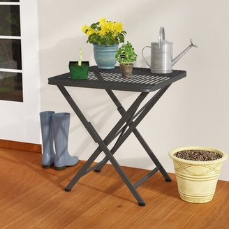 Darby Home Co Signe Folding Metal Bistro Table Darby Home Co Color: Antique Black
