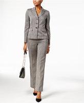 Le Suit Three-Button Melange Pantsuit