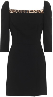 Dolce & Gabbana Stretch-wool minidress